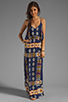 Image 2 of Eight Sixty Tribal Maxi in Navy