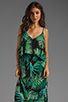 Image 1 of Eight Sixty Palm Maxi Dress in Blue/Green