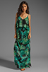 Image 2 of Eight Sixty Palm Maxi Dress in Blue/Green