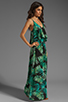 Image 3 of Eight Sixty Palm Maxi Dress in Blue/Green
