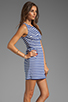 Image 3 of Eight Sixty Striped Tank Dress in Cobalt/White
