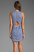 Image 4 of Eight Sixty Striped Tank Dress in Cobalt/White