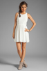 Image 2 of Eight Sixty Spider Web Back Gauze Dress in Off White