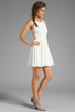 Image 3 of Eight Sixty Spider Web Back Gauze Dress in Off White