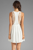 Image 4 of Eight Sixty Spider Web Back Gauze Dress in Off White