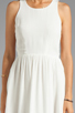Image 5 of Eight Sixty Spider Web Back Gauze Dress in Off White