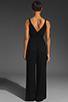 Image 5 of Eight Sixty Jersey Long Jumpsuit in Black