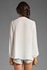 Image 2 of Eight Sixty Beaded Blouse in White