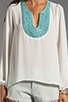 Image 3 of Eight Sixty Beaded Blouse in White