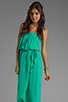 Image 1 of Ella Moss Stella Strapless Maxi in Jade