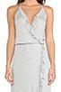 Image 4 of Ella Moss Icon Asymmetric Hem Dress in Grey