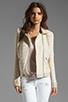 Image 1 of Ella Moss Salinas Stripe Jacket in Linen/Cream
