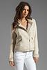 Image 2 of Ella Moss Salinas Stripe Jacket in Linen/Cream
