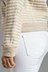 Image 5 of Ella Moss Salinas Stripe Jacket in Linen/Cream