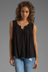 Image 1 of Ella Moss Stella Button Up Blouse in Black