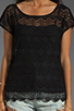 Image 3 of Ella Moss Jasmine Lace Top in Black