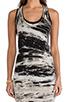 Image 5 of Enza Costa Costae Dye Jersey Dress in Black Costae