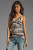 Image 1 of Enza Costa Costae Dye Racer Tank in Black