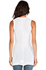 Image 3 of Enza Costa Tissue Jersey Bold Sleeveless Top in White