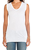 Image 4 of Enza Costa Tissue Jersey Bold Sleeveless Top in White