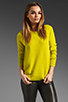 Image 1 of Equipment Sloane Crew Sweater in in Citronelle