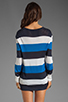 Image 2 of Equipment Joyce Open Crew Sweater in Peacoat/Electric Blue