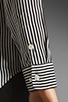Image 4 of Equipment Collarless Slim Signature Daphne Stripe Blouse in Black/White