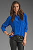 Image 1 of Equipment Signature Blouse in Regal Blue