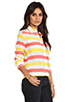 Image 2 of Equipment Cabana Stripe Slim Signature Blouse in Blazing Yellow/Coral