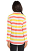 Image 3 of Equipment Cabana Stripe Slim Signature Blouse in Blazing Yellow/Coral