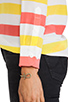 Image 5 of Equipment Cabana Stripe Slim Signature Blouse in Blazing Yellow/Coral