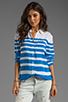 Image 1 of Equipment Lucky Stripe Reese Blouse in Electric Blue