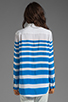Image 2 of Equipment Lucky Stripe Reese Blouse in Electric Blue
