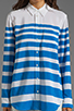 Image 3 of Equipment Lucky Stripe Reese Blouse in Electric Blue