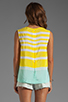 Image 2 of Equipment Venice Stripes Reagan Blouse in Blazing Yellow/Ice Green