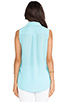 Image 3 of Equipment Sleeveless Slim Signature Blouse in Light Teal