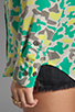 Image 4 of Equipment Retro Camo Slim Signature Blouse in Lime Punch