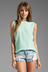 Image 1 of Equipment Reagan Sleeveless Blouse in Ice Green