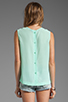 Image 2 of Equipment Reagan Sleeveless Blouse in Ice Green