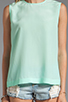 Image 3 of Equipment Reagan Sleeveless Blouse in Ice Green