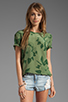 Image 1 of Equipment Tropical Floral Riley Tee in Safari Green