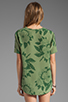 Image 2 of Equipment Tropical Floral Riley Tee in Safari Green