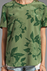 Image 3 of Equipment Tropical Floral Riley Tee in Safari Green
