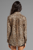 Image 2 of Equipment Underground Leopard Printed Slim Signature Blouse in Natural