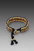 Image 3 of Ettika Hammered Gold Bracelet in Black
