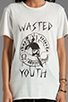 Image 3 of Evil Twin Wasted Tee in White