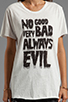 Image 4 of Evil Twin Always Evil Tee in White/ Black