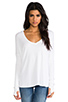 Image 1 of Feel the Piece Robin Thermal Flowy Top with Thumb Holes in White