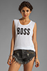 Image 1 of Feel the Piece x TYLER JACOBS Boss Muscle Tee in Optic White