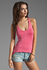 Image 1 of Feel the Piece Terrific Racer V-Neck Tank in Hot